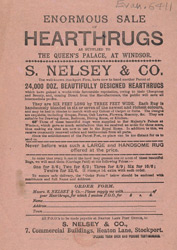 Advert for S Nelsey & Co, hearthrugs